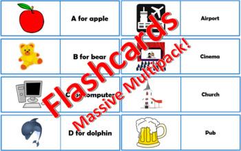 Massive English ESL Flashcards Bundle - 300+ flashcards!