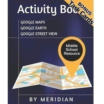 Massive Google Maps ACTIVITY BOOK **BONUS Task Cards**