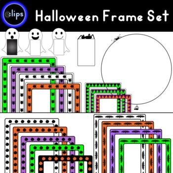 Massive Halloween Frame Set - 49 Frames - Bats - Spiders - Ghosts