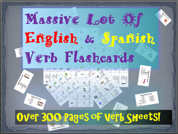 Huge Lot of English & Spanish Flashcards - 9 Different Grammar Forms