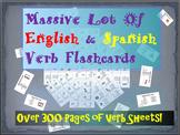 Huge Lot of English & Spanish Flashcards - 9 Different Gra