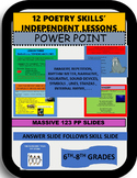 12 POETRY SKILLS' INDEPENDENT LESSONS POWER POINT