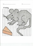 Quadrant 1 Coordinate Graph Mystery Picture, Massy the Mouse