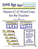 Master CVC Word Lists for the Teacher