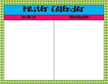 Master Calendar {FREEBIE}
