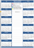 Master Calendar of Events