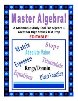 Master Math: A Mnemonic Algebra Study Tool