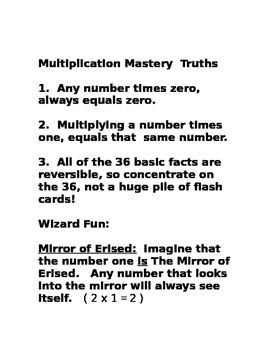 Master Multiplication Facts-The Wizard Way