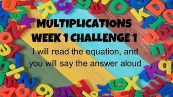 Master Multiplication Facts Week 1