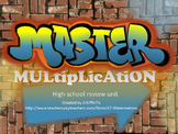 Master Multiplication Review Unit for High School