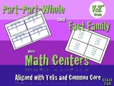 Master Part Part Whole and Fact Family with Math Centers. TEKS-COMMON CORE K-2