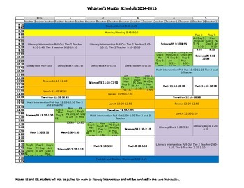 Master Schedule with RTII Supports Built In