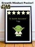 Master Yoda Star Wars Theme Growth Mindset Poster For Classroom Decor