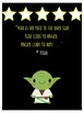 Master Yoda Star Wars Theme Growth Mindset Poster For Classroom Decor Posters