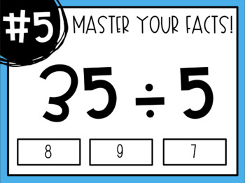 Master Your Math Facts - Interactive PDF Activities! (Growing Bundle)