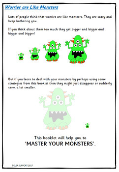 Master Your Monsters - anxiety booklet