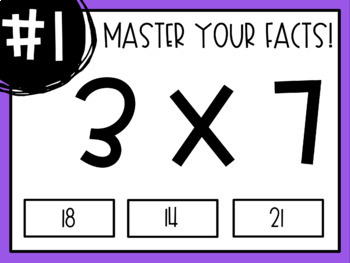 Master Your Multiplication Facts - Interactive PDF Activities!