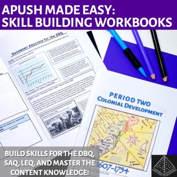 Master AP US History Workbooks Bundle: Periods 1-5