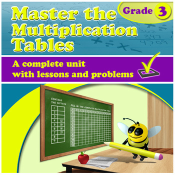 Master the Multiplication Tables - grade 3, common core
