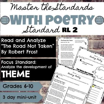 "Master the Standards: RL2 with a Poetry ""The Road Not Taken"" Mini-unit"
