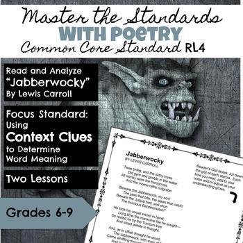 Master the Standards with Poetry Analysis CCSS RL 4: Context Clues