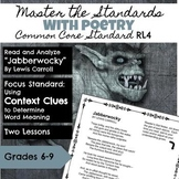 Master the Standards with Poetry Analysis CCSS RL 4: Conte