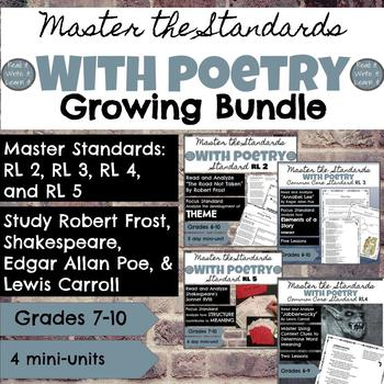 Master the Standards with Poetry Growing Bundle for Grades 6-10