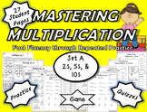 Mastering Multiplication: Fact Fluency Through Repeated Practice-Set A 2s 5s 10s