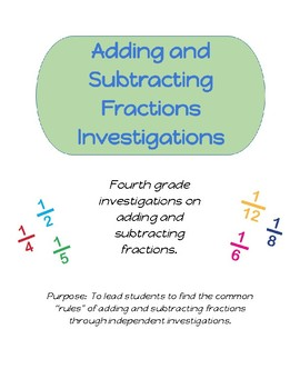 Mastering Adding and Subtracting Fractions Investigations