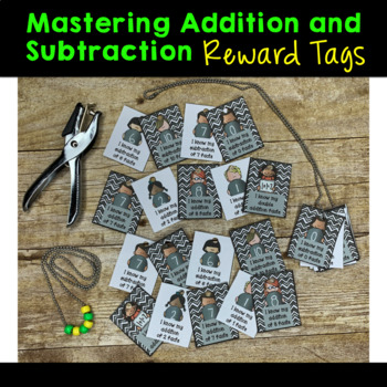 Mastering Addition and Subtraction Facts Brag Tags