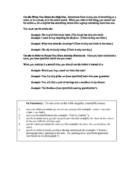 Mastering Articles and Prepositions: