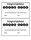 Mastering Basic Math Facts Certificates