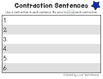 Mastering Contractions: Sort, Write, and Play