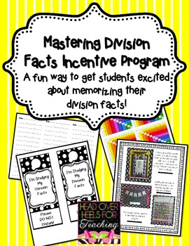 Mastering Division Facts Incentive Program