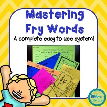Mastering Fry's High Frequency Words System: Fry's First 500 Words