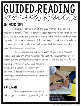 Mastering Guided Reading Case Study & Research Results