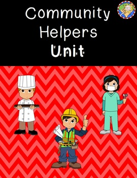 Community Helpers Unit, math and literacy packet, craft
