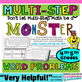 multi step word problems 4th grade 5th grade math worksheets tpt. Black Bedroom Furniture Sets. Home Design Ideas