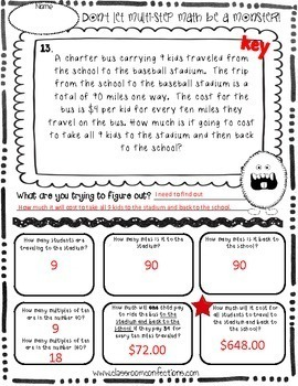multi step word problems 4th grade 5th grade math worksheets tpt. Black Bedroom Furniture Sets. Home Design Ideas
