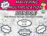 Mastering Multiplication BUNDLE: Fact Fluency Through Repe