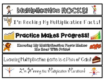 Mastering Multiplication Fact Fluency Practice for Facts 0-12