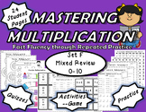 Mastering Multiplication: Fact Fluency Through Repeated Practice-Set F 0-10