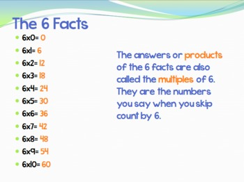 Mastering Multiplication Facts 6-9 powerpoint (using different strategies)