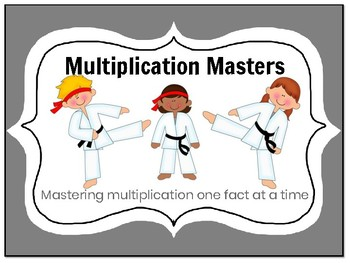 Multiplication: Mastering Facts with Karate - 25 Assessments