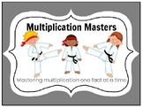 EDITABLE! Multiplication: Mastering Facts with Karate - 25 Assessments