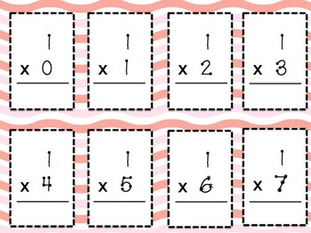 Mastering Multiplication Flash Cards