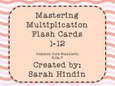 Mastering Multiplication Flash Cards