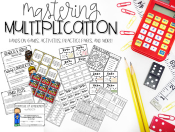 Mastering Multiplication Games, Activities, Practice Pages, Timed Tests, & More!