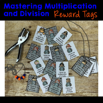 Mastering Multiplication and Division Facts Brag Tags