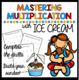 Multiplication Drills & Ice Cream Activity